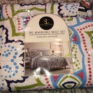 3pc queen quilt set